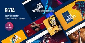 Gota v1.0 – Sport Elementor WooCommerce Theme