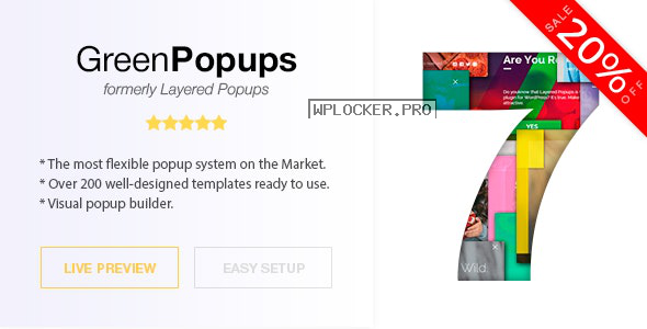 Green Popups (formerly Layered Popups) v7.1.1 – Popup Plugin for WordPress