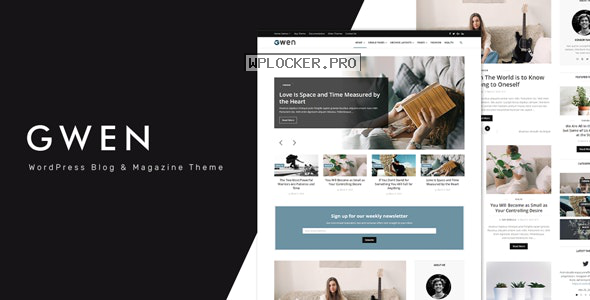 Gwen v1.6 – Creative Personal WordPress Blog Theme