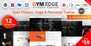 Gym Edge v4.0 – Gym Fitness WordPress Theme