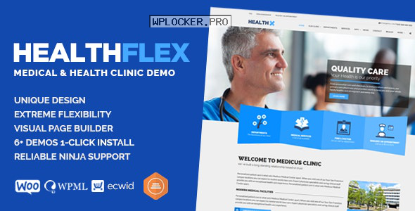 HEALTHFLEX v2.0.0 – Medical Health WordPress Theme