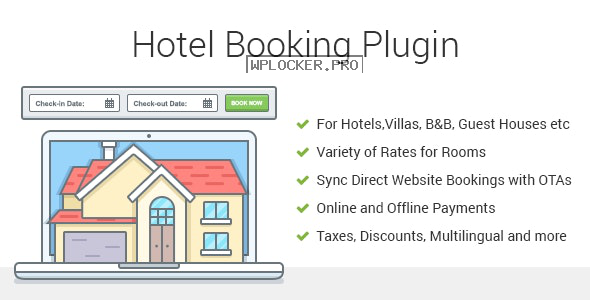 Hotel Booking v3.8.5 – Property Rental WordPress Plugin