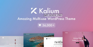 Kalium v3.0.8 – Creative Theme for Professionals