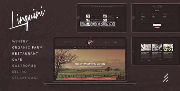 Linguini v3.3.0 – Restaurant WordPress Theme