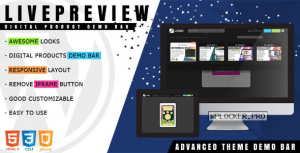 LivePreview v1.2.3 – Theme Demo Bar for WordPress