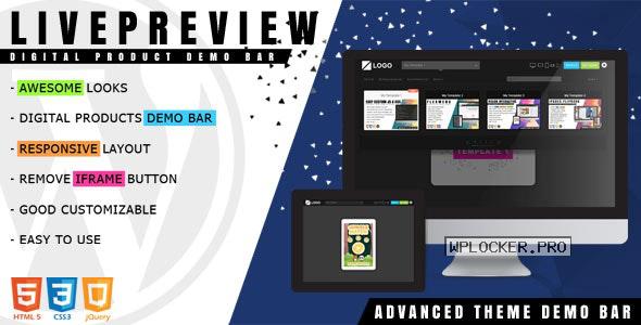 LivePreview v1.2.3 – Theme Demo Bar for WordPress