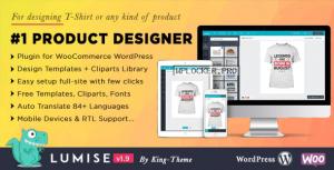 Lumise Product Designer v1.9.7 – WooCommerce WordPress