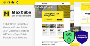 MaxCube v1.1.2 – Moving & Self Storage Relocation Business WordPress Theme