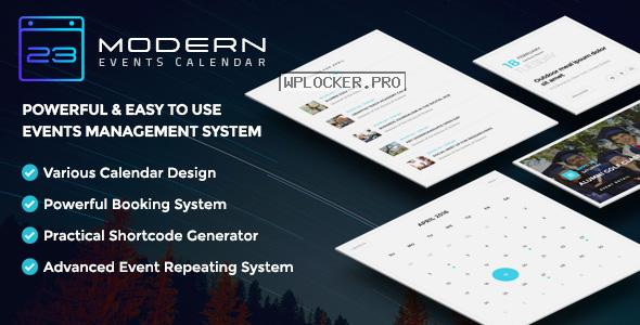 Modern Events Calendar v5.12.6 – Responsive Event Scheduler