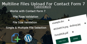 Multiline files upload for contact form 7 Pro v1.8