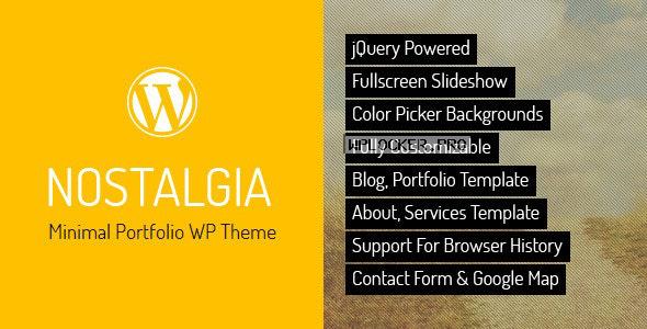 Nostalgia v7.5 – Responsive Portfolio WordPress Theme