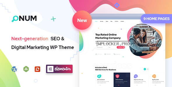Onum v1.2.0.7 – SEO & Marketing Elementor WordPress Theme