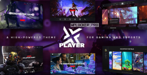 PlayerX v1.9 – A High-powered Theme for Gaming and eSports