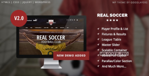 Real Soccer v2.42 – Sport Clubs Responsive WP Theme