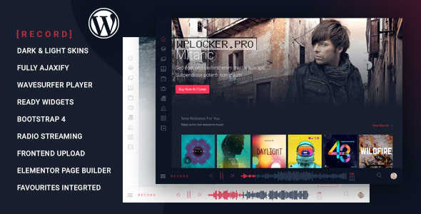 Rekord v1.4.5 – Ajaxify Music – Events – Podcasts Multipurpose WordPress Theme