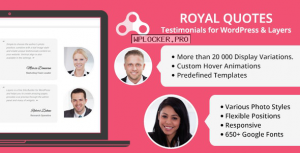 Royal Quotes v1.4.1 – WordPress Testimonials Plugin