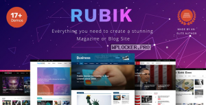 Rubik v1.9.3 – A Perfect Theme for Blog Magazine Website