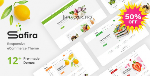 Safira v1.0.5 – Food & Organic WooCommerce WordPress Theme