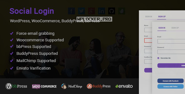 Social Login for WordPress WooCommerce BuddyPress bbPress v1.6.0