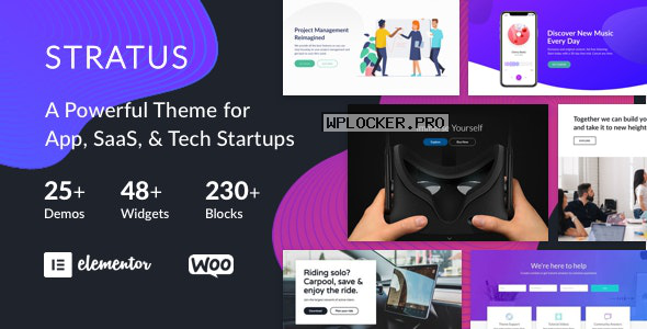 Stratus v3.8.13 – App, SaaS & Software Startup Tech Theme