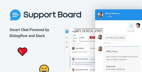 Support Board v3.1.0 – Chat WordPress Plugin – Chat & Support