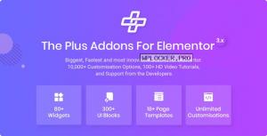 The Plus v4.1.0 – Addon for Elementor Page Builder WordPress Plugin