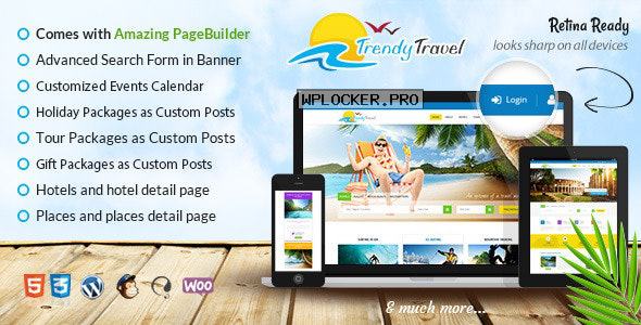 Trendy Travel v4.9 – Multipurpose Tour Package WP Theme