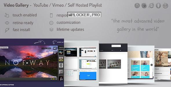 Video Gallery WordPress Plugin /w YouTube, Vimeo v11.721