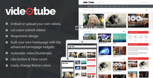 VideoTube v3.4.2 – A Responsive Video WordPress Theme