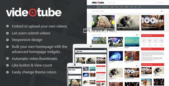 VideoTube v3.4.2 – A Responsive Video WordPress Theme