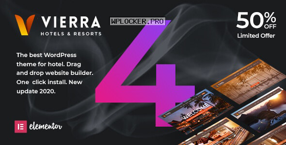 Vierra v4.0 – Hotel, Resort, Inn & Booking Elementor WordPress Theme