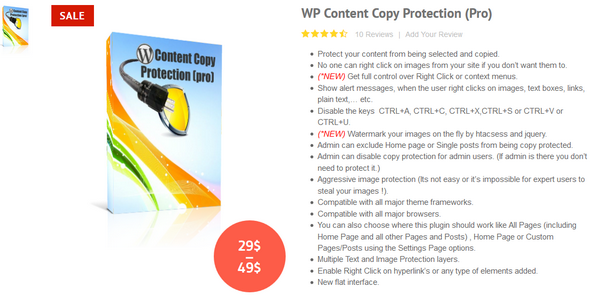 WP Content Copy Protection Pro v9.7