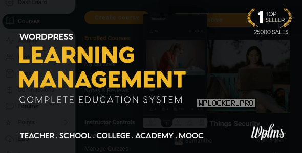WPLMS v4.0.9.5 – Learning Management System for WordPress, Education Theme