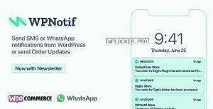 WPNotif v2.1.1.4 – WordPress SMS & WhatsApp Notifications