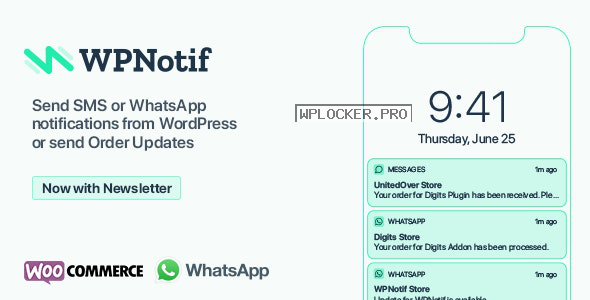 WPNotif v2.1.1.4 – WordPress SMS & WhatsApp Notifications
