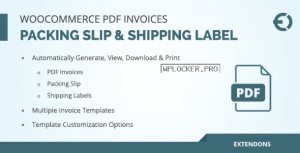 WooCommerce PDF Invoice, Packing Slip & Shipping Label v1.0.3