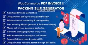 WooCommerce PDF Invoice & Packing Slip Generator v1.5.0