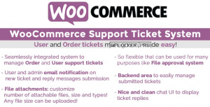 WooCommerce Support Ticket System v1.3.1