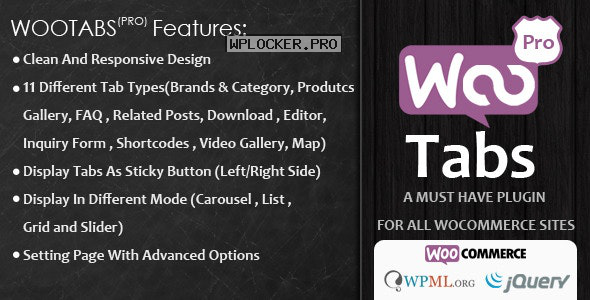 Woocommerce Tabs Pro v3.2 – Extra Tabs for Product Page