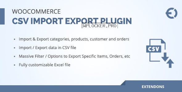 Woocommerce csv import export plugin v2.0.0 – orders, customers, products