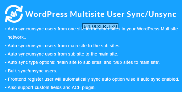 WordPress Multisite User Sync/Unsync v1.4.0
