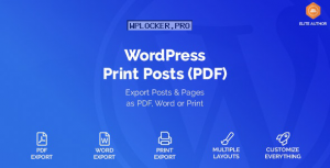 WordPress Print Posts & Pages (PDF) v1.5.1