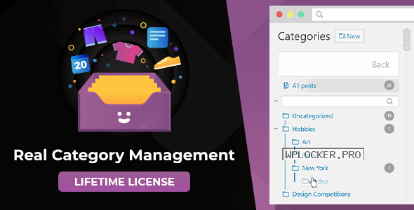 WordPress Real Category Management v3.4.0 – Content Management in Category Folders with WooCommerce Support