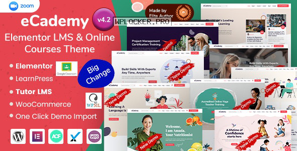eCademy v4.2 – Elementor LMS & Online Courses Theme