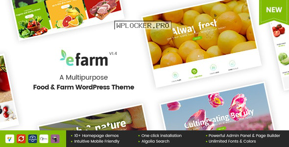 eFarm v1.5.8 – A Multipurpose Food & Farm WordPress Theme