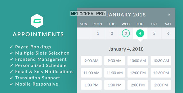 gAppointments v1.9.5 – Appointment booking addon for Gravity Forms