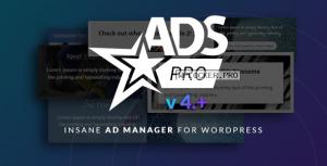 Ads Pro Plugin v4.3.9 – Multi-Purpose Advertising Manager
