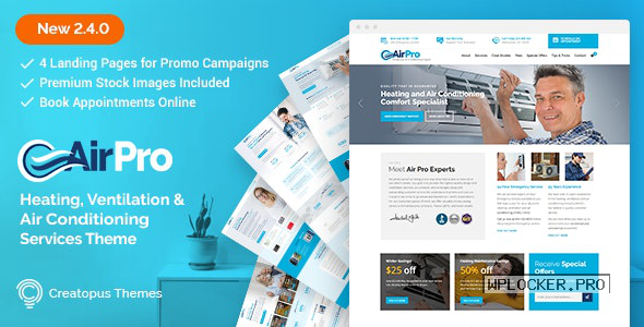 AirPro v2.6.4 – Heating and Air conditioning Theme