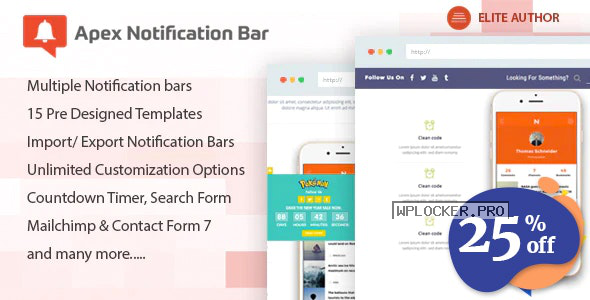 Apex Notification Bar v2.1.6 – Responsive Notification Bar