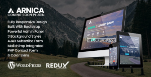 Arnica v1.5 – Creative Coming Soon WordPress Plugin
